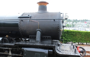 Paignton and Dartmouth Railway Kingswear July 2015 BR unlined black 7820 Dinmore Manor (08)
