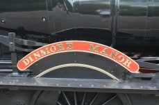 Paignton and Dartmouth Railway Kingswear July 2015 BR unlined black 7820 Dinmore Manor (09) nameplate