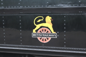 Paignton and Dartmouth Railway Kingswear July 2015 BR unlined black 7820 Dinmore Manor (10) BR early crest