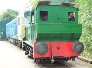 South Devon Railway Buckfastleigh 23rd July 2015 - Sentinel 0-4-0 Locomotive No. 9537 Susan (1)