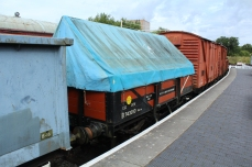 South Devon Railway Totnes Littlehempston July 2015 - B743010 British Railways diagram O-051'clayhood' open china clay wagon