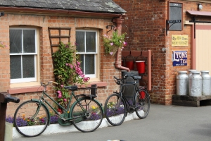 South Devon Railway Staverton July 2015 - bicycles