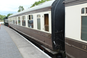 South Devon Railway Totnes Littlehempston July 2015 - GWR Corridor Third No 536 Toplight coach carriage