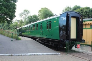Watercress Line Bulleid Bulleid brake third carriage carriage 4211 Alresford 7th August 2015
