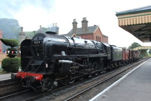 Watercress Line BR standard class 9F 92212 demonstration goods