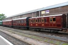 Kent and East Sussex Railway Tenterden August 2015 (24) vintage carriage set