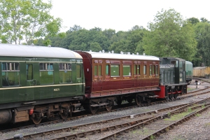 Kent and East Sussex Railway Tenterden August 2015 (26) SECR No. 177 - (K&ESR No. 84) Family Saloon BR 03 class Diesel Mechanical 204hp 0-6-0 BR D2023