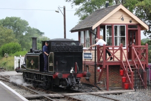 Kent and East Sussex Railway Tenterden August 2015 (59) ex-LBSCR A1X class 32670 (3 Bodiam)