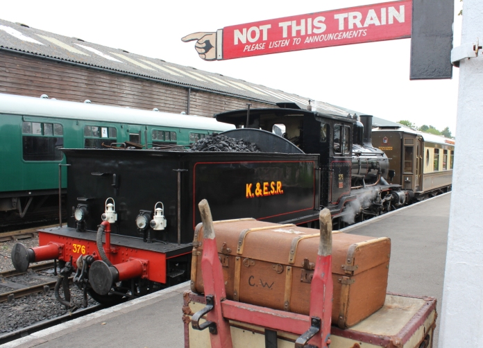 Kent and East Sussex Railway Tenterden August 2015 (76) 2-6-0 mogul 21C class Norwegian State Railways (Norwegian Norges Statsbaner AS) 376 (19) Norwegian