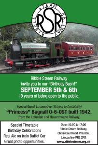 Ribble Steam Railway gala 2015 Sept 5-6