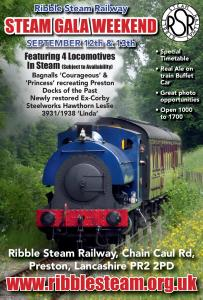 Ribble Steam Railway gala 2015 Sept Gala