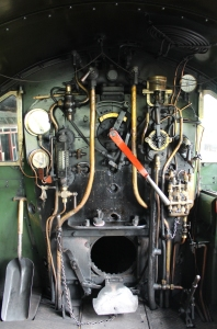 South Devon Railway Buckfastleigh July 2015 GWR BR 2251 Collett Goods class 3205 cab footplate (1)