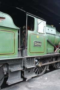 South Devon Railway Buckfastleigh July 2015 GWR BR 2251 Collett Goods class 3205 cab footplate (5)