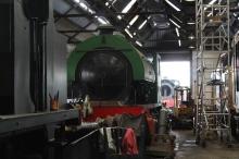 Spa Valley Railway Tunbridge Wells West 75F - August 2015 (14) RSH 62 Ugly - Vulcan Austerity 72