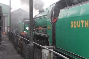 Watercress Line Ropley Schools class V 925 Cheltenham - 19th September 2015