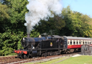 Bodmin and Wenford Railway ex-GWR BR 42xx 4247 2-8-0T - 3rd October 2015 Bodmin Parkway