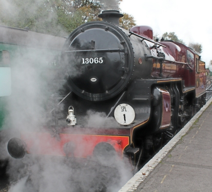 Watercress Line Autumn Steam Gala 23 October 2015 - LMS Hughes Crab 13065