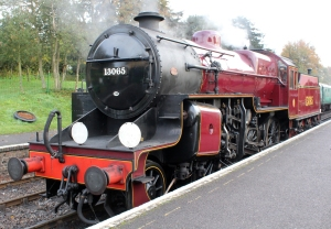 Watercress Line Autumn Steam Gala 24 October 2015 - LMS Hughes Crab 13065