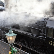 Watercress Line Autumn Steam Gala 24 October 2015 - BR Standard 9F 92212 and Ex-LSWR T9 class 30120