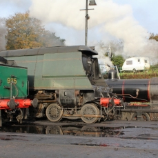 Watercress Line Autumn Steam Gala 24 October 2015 - Southern Railway Schools class V 925 Cheltenham, West Country class 34007 Wadebridge and Ex-LSWR T9 class 30120