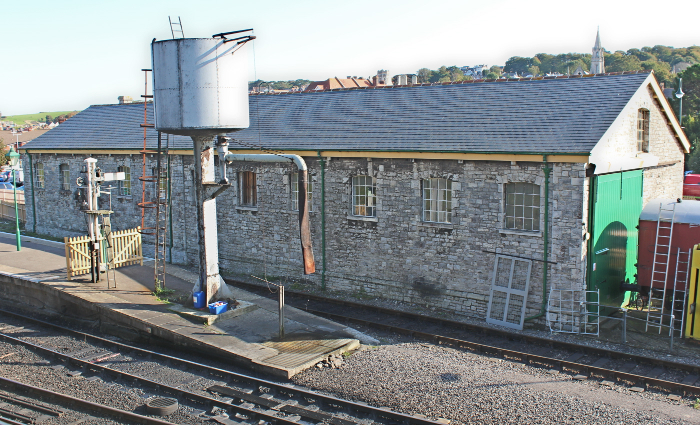 Swanage Railway September 2015 02 Goods Shed And Water