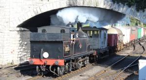 Swanage Railway September 2015 (09) Ex-LSWR M7 class 30053 demonstration goods train