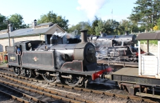 Swanage Railway September 2015 (10) Ex-LSWR M7 class 30053 demonstration goods train