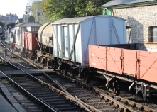 Swanage Railway September 2015 (11) Ex-LSWR M7 class 30053 demonstration goods train
