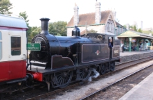 Swanage Railway September 2015 (12) Corfe Castle Ex-LSWR M7 class 30053 The Dorset Man