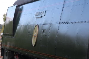 Swanage Railway September 2015 (16) Corfe Castle Bulleid unrebuilt West Country Class 34070 Manston