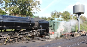 445 - Watercress Line Ropley - BR Standard 9F 92212 and class 11 12049 - 20th October 2015