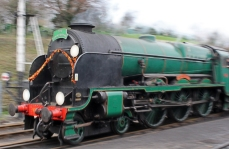 Watercress Line Ropley 2015 Christmas Decorations on 850 Lord Nelson