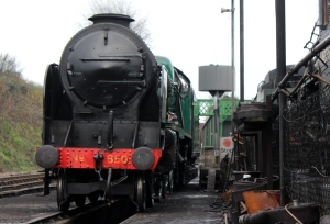 Watercress Line Ropley 3rd December 2015 (850 Lord Nelson)
