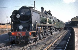 34052 at Salisbury, 8th March 1964. Photo © 1964/2010 Barry Austin http://svsfilm.com/