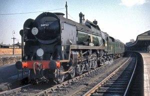 34052 at Salisbury, 8th March 1964. Photo © 1964/2010 Barry Austin http://svsfilm.com/