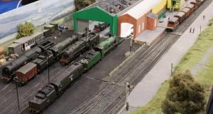 Ropley Model Railway 00 gauge at Alresford Watercress Line Spring Steam Gala 2016 (2)
