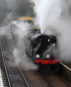 Watercress Line Spring Steam Gala 2016 (15) Ivatt 2MT 41312 Alresford