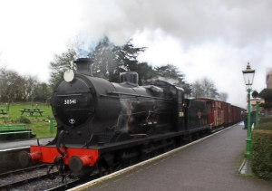 Watercress Line Spring Steam Gala 2016 (23)  Maunsell Q class 30541 demonstration goods freight Ropley