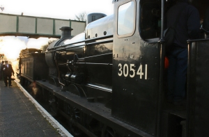 Watercress Line Spring Steam Gala 2016 (30) Maunsell Q class 30541 and ex-LSWR T9 class 30120 Ropley