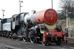 Watercress Line Ropley - BR Standard 4MT 76017 16th March 2016