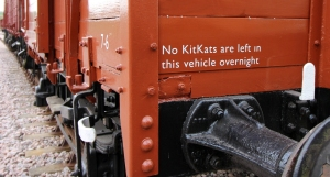 Kent and East Sussex Railway Rolvenden tour 2016 (86) KitKat van crop
