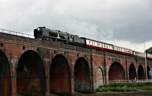 34052 Lord Dowdings - 15th May 2016 - Fareham Viaduct - Bulleid Battle of Britain rebuilt (1)