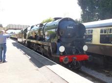 35006 running round its train at Toddington