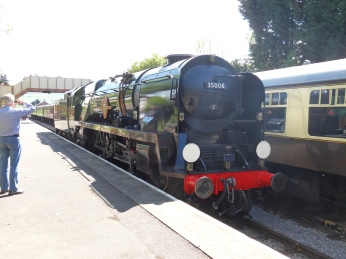 35006 running round its train at Toddington