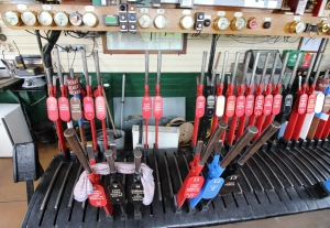 Kent and East Sussex Railway Rolvenden tour 2016 (58) inside signal box