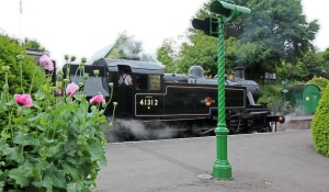 Watercress Line Ropley BR Ivatt 2MT 41312 2-6-2T - 19th July 2016 (3)