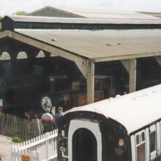 Bluebell Railway 1990s (01) Sheffield Park locomotive shed 55 Stepney