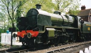 Bluebell Railway 1990s (02) Sheffield Park Maunsell Southern Railway U class 1618