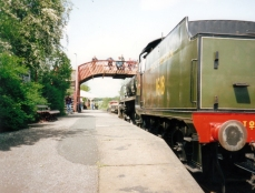 Bluebell Railway 1990s (03) Sheffield Park Maunsell Southern Railway U class 1618