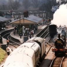Bluebell Railway 1990s (06) Horsted Keynes SECR C class 592